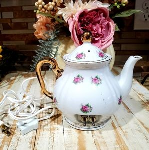 Nasco vintage porcelain electric tea pot